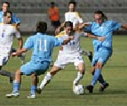 A phase of the match between San Marino and Cyprus