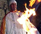 Olympic Torch of XX Winter Olympics of Torino 2006 on Titano