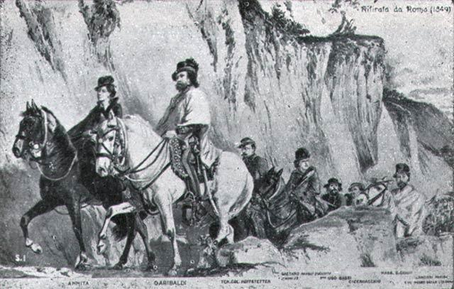 Garibaldi, Anita e il suo esercito arriva al Titano