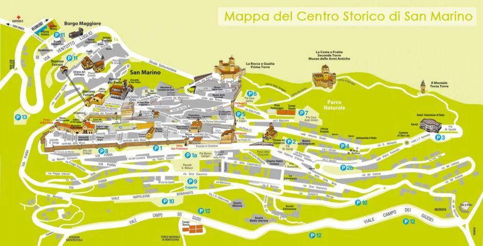 Parking Of San Marino Car Camper And Prices To Park In San Marino - San marino map download