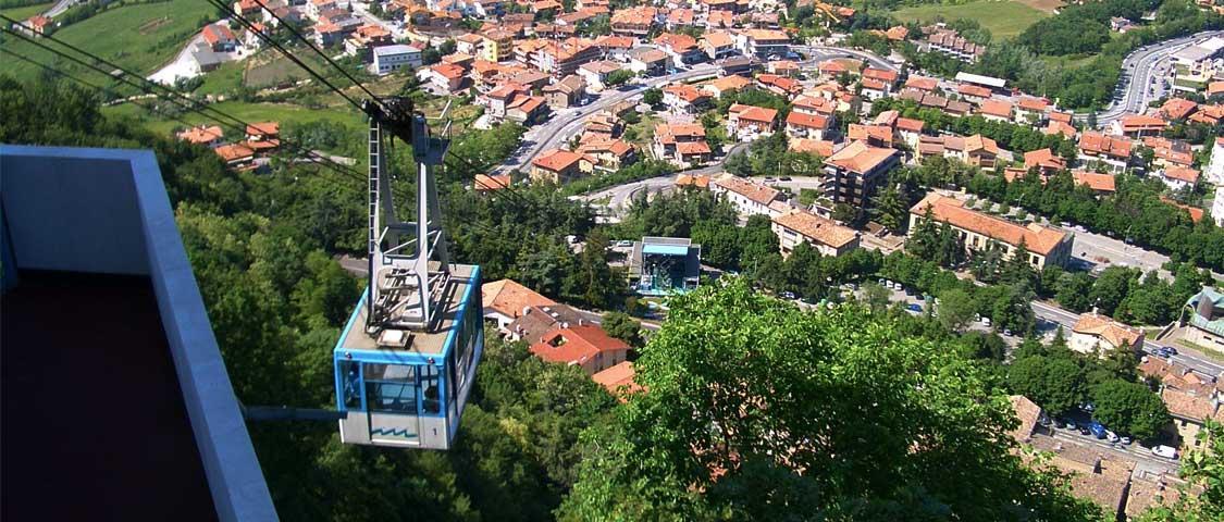 Funivia San Marino: orari, tariffe, trasporto Borgo Maggiore San Marino