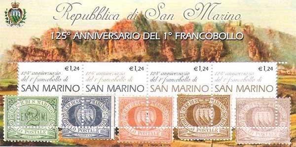 anniversario 1 francobollo san marino